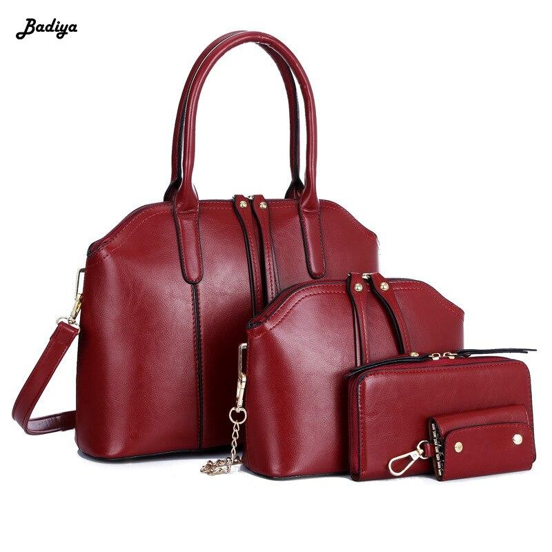 Sacs à main de luxe femmes sacs Designer 2018 sacs à main et sacs à main ensemble 4 pièces sacs femme Bolsa Feminina sac de messager de haute qualité