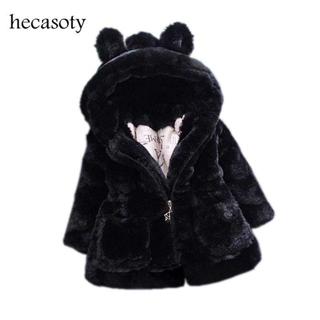 596989098ff5 New Autumn Winter Baby Girls Clothes Faux Fur Fleece Coat Pageant ...