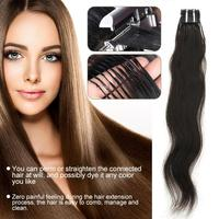 No trace Hair Extension Clips Natural Real Hair Wig Ponytail Piece Tool Kit