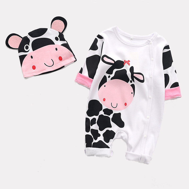 Baby Boys Girls Rompers+hat Cartoon Animal Jumpsuit Infant Costumes Newborn Body Baby 2pcs Outfits Set Clothes Reliable Performance