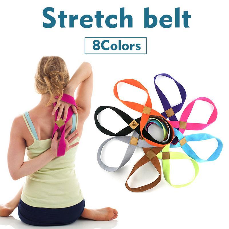 ✔  8-образный Женский Yoga Stretch Strap Ремень Yoga Pull Up Пояс Веревка Запястья Талии Тренировки Ног ★