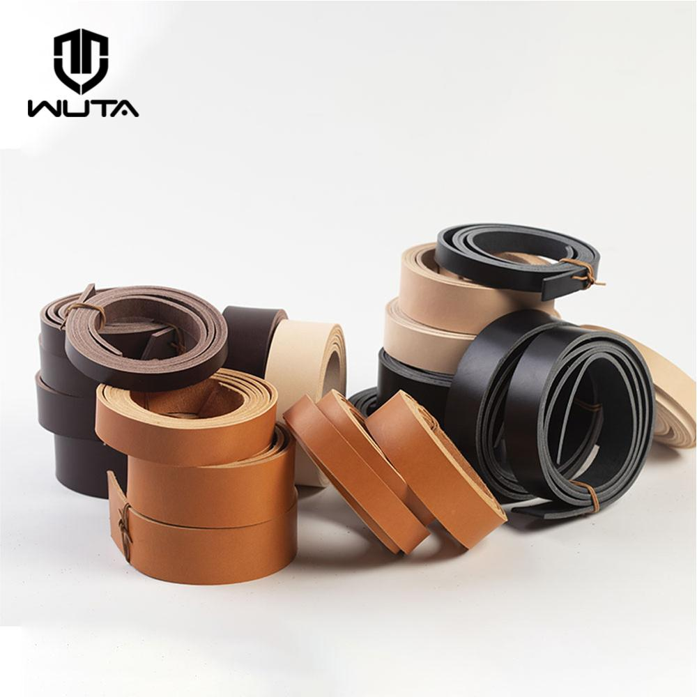 WUTA NEW 8/10oz Genuine Leather Belt Strap Veg Tanned Leather Craft Handmade Belt Blank Cowhide Strip 48(Various Width-DIY Gift image