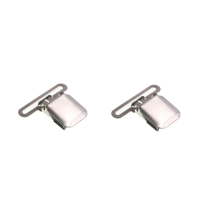 2pcs/lot Suspender Clips 50 40mm Metal Paci Pacifier Suspender Clips Holders DIY For Custom Craft Project Strong Catch Accessory