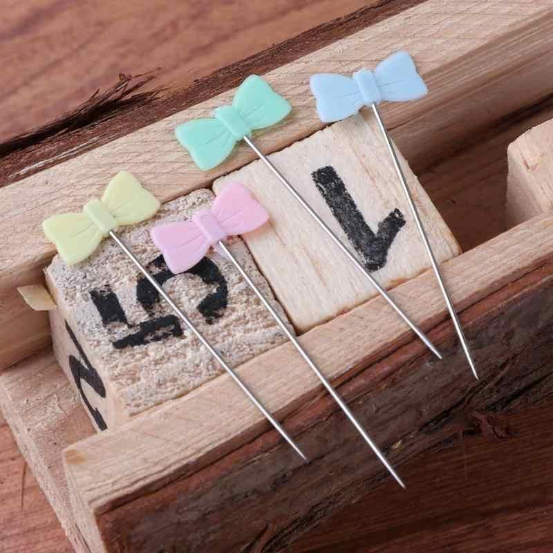 1 caja DIY alfileres de costura para bodas Corsage Pin de costura a mano con pasadores de posicionamiento fijo suministros de encuadernación para oficina Dropshipping
