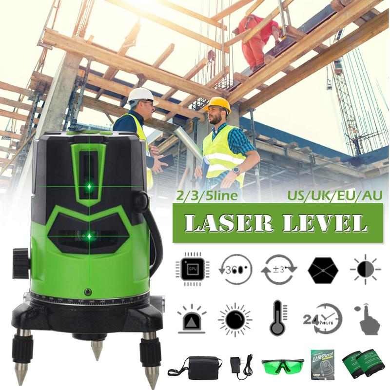 Laser Level Infrared Ray Green Light High Precision Automatic Line 2 3 5 Line Glare Level