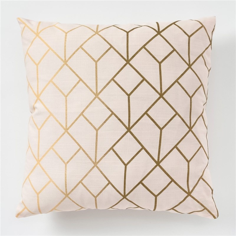 Decorative pillow case Ethel Grid, 45x45 cm, репс, cotton 100% decorative pillow case ethel triangles 45x45 cm репс pl 130g m² 100% cotton