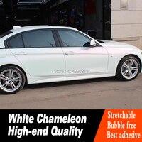 Перламутровый белый Хамелеон Белый Красный винил для автомобиля пленка с воздушным пузырьком свободный автомобиль покрытие высокого клас