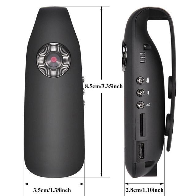 EastVita HD 1080P 130 degree Mini Camcorder Dash Cam Police Body Motorcycle Bike Motion Camera US PLUG r20 1