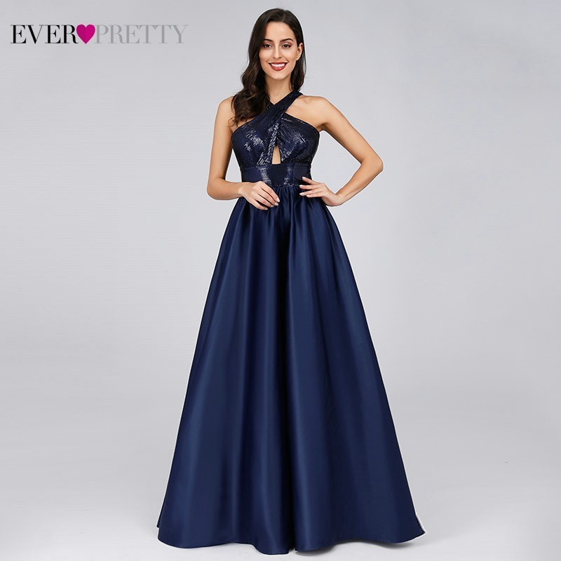 Prom Dresses Long Ever Pretty Sexy Backless Sleeveless Sequined Formal Dresses EP07858NB Elegant Party Gowns Robe