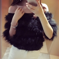 Woman Slash Neck Lace Shirts Blouses Sexy Ol Work Feathers Shirts Blouses Short Half Sleeve Blouses Female New Party Tops Dz206