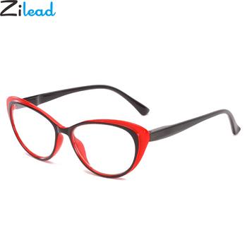 Zilead Cat Eyes okulary do czytania dla kobiet przezroczyste soczewki okulary okulary do czytania okulary + 1 0 + 1 5 + 2 0 + 2 5 + 3 0 + 3 5 + 4 0 Unisex tanie i dobre opinie Jasne Lustro YJ1000 4 4cm Poliwęglan Z tworzywa sztucznego 200002198 200002198 200002198 200002146 200002146 200002146