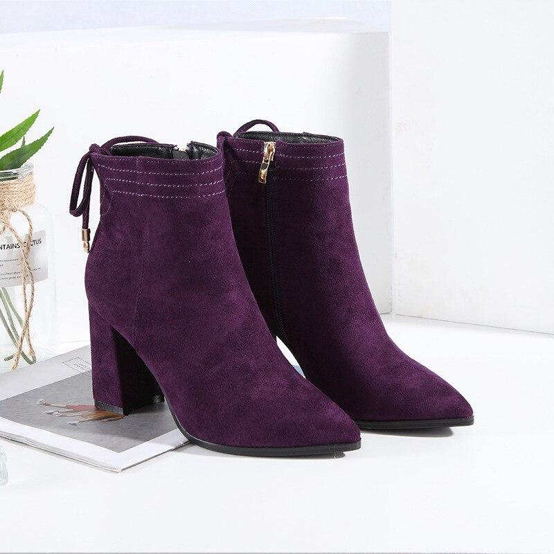 887d33fab8fa Breve violet Donna Delle Black Inverno Confortevole Alta Martin Di Stivali  Donne qEdPdvTw