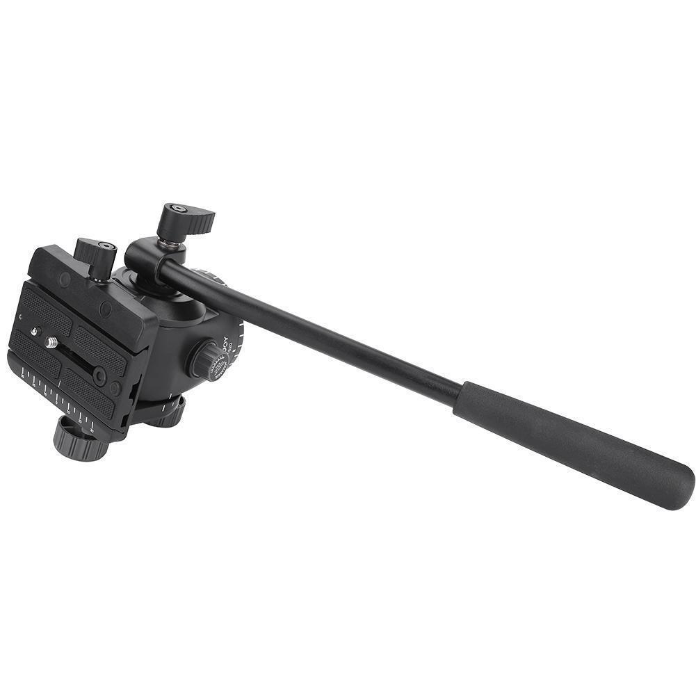 KINGJOY VT-1520 Hydraulic Fluid Tripod Camera Pan Head QR Plate For DSLR Cameras