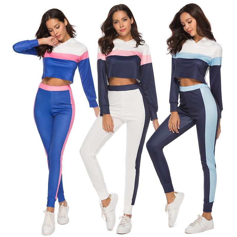 VITIANA Two Piece Set Women Tracksuit Spring 2019 Ensemble Femme Casual Hooded Long Sleeve Two Piece Outfits Ladies Sport Sets