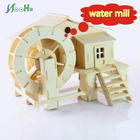 Educational Jigsaw 3d Wooden Puzzle House Building For Adults Kids Water Mill Kids Toys Children GiftChalets Wood Toy Puzzles
