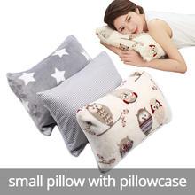 Маленькая подушка с наволочкой мягкая и насыщенная для взрослых