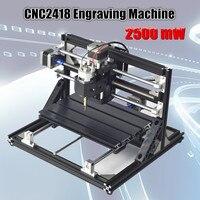 WOLIKE 2500 МВт CNC2418 гравировки лазерный гравер машина резьба машина численное Управление деревообрабатывающее оборудование 110 В 240 В