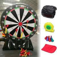 3 Meter Outdoor Durable Game Giant Inflatable Dart Board With Air Blower 220V Oxford Fabric Throwing Sport Games Inflatable Game