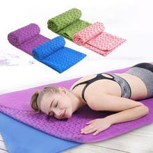 Нескользящий хлопковый Коврик для йоги, коврик в горошек сливы, смоляное полотенце, одеяло для занятий спортом, фитнесом, упражнениями, пляжное полотенце