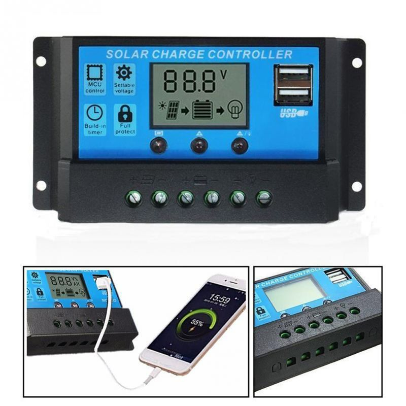 ELEG-30A 12 V/24 V LCD Inteligência Auto Regulação PWM Solar Controlador de Carga Da Bateria