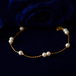 Brazalete de perlas a la moda, abalorio blanco, pequeño defecto, Perla de agua dulce, joyería clásica femenina, regalo elegante, brazalete elegante para mujer