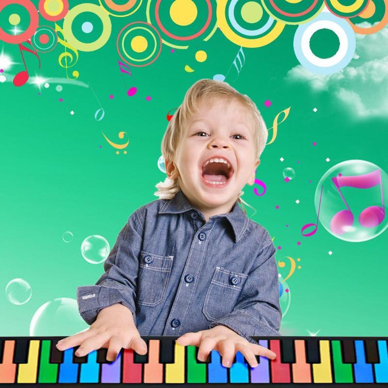 49 touches main rouleau clavier Portable souple Silicone pliable retrousser Piano bébé apprentissage précoce jouets éducatifs enfants cadeaux musicaux