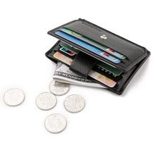 Тонкие мужские кошельки, кожаные, на застежке, мульти банк, ID, держатели для карт, короткие, двойные, кошельки для карт, мужская сумка для денег, маленькая, carteira hombre
