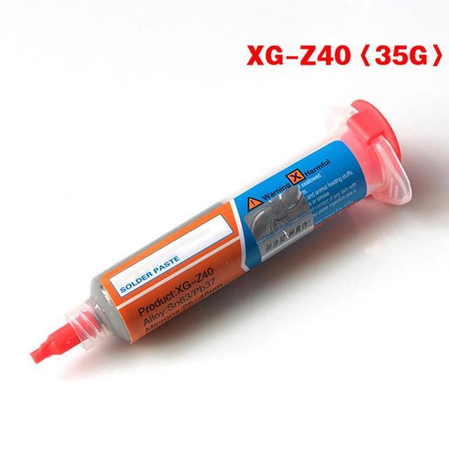 XG-Z40 35G Syringe Solder Paste Tin Cream Welding Solder BGA Flux For Soldering Welding Tool Welder Repair Rework