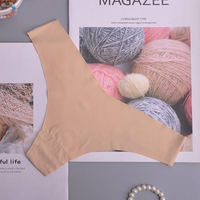 Hot Silk Sexy Women Thongs Seamless