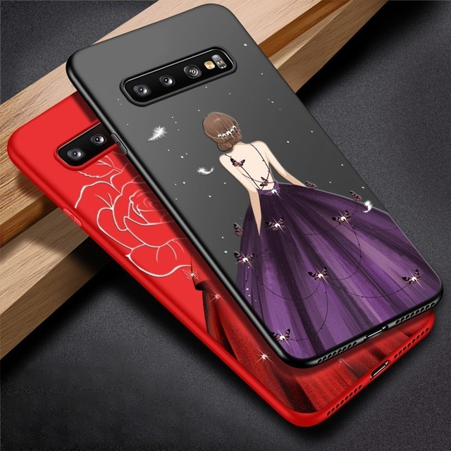 ASINA Samsung Galaxy S10 S10 Plus S10e Luxury Shockproof Silicone Dress Design Back Case Cover