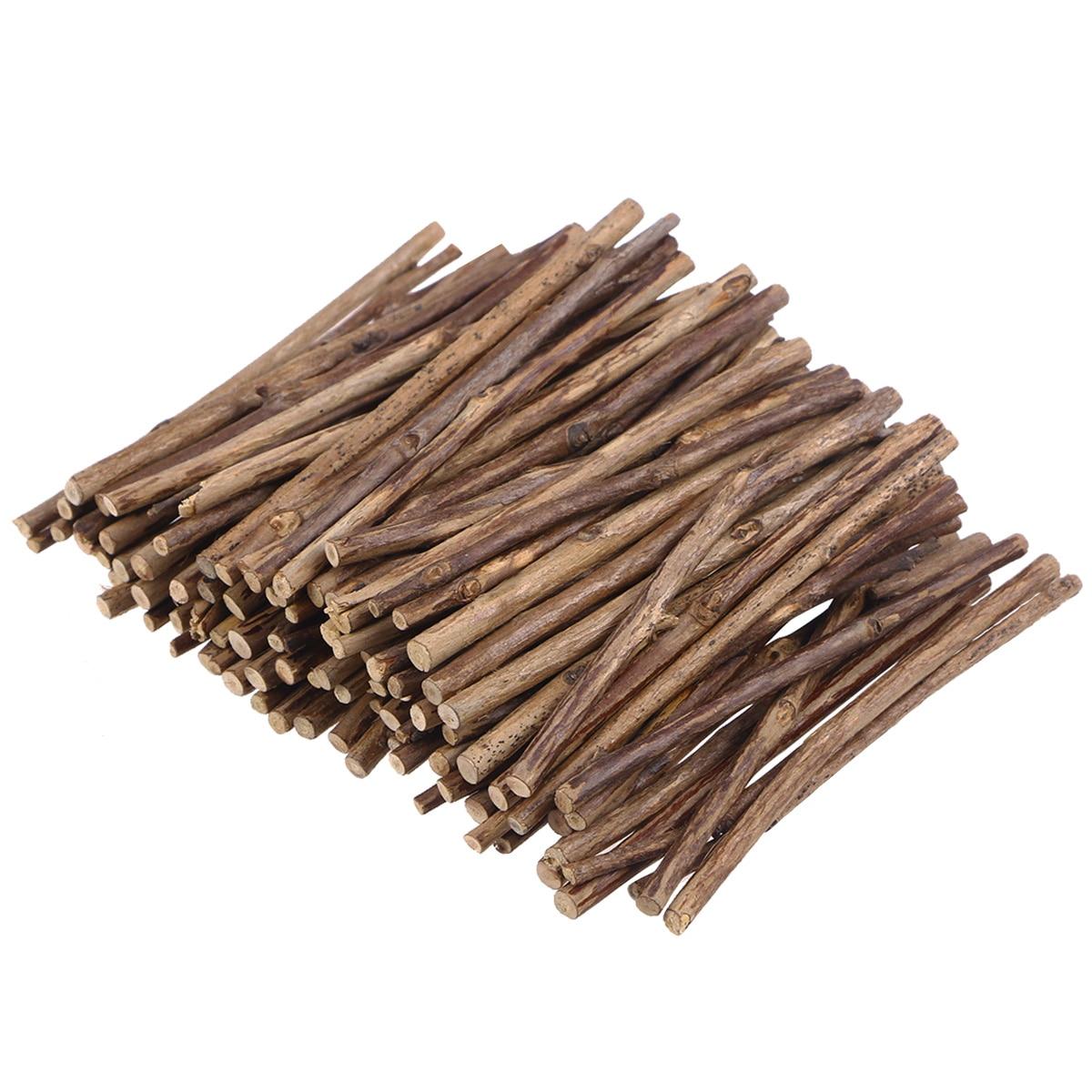 200 Piezas Palitos de Madera - Natural Redondo Palitos - Palillos de Madera para Proyectos de Manualidades y Decoraciones para Bodas y Fiestas 18 cm