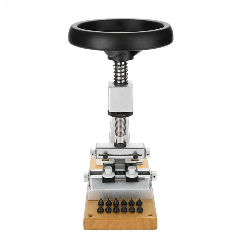Profesional 5700 # reloj de Banco abridor de caja con reloj de Base de Metal kit de herramientas de reparación de reloj para reloj de tornillo abridor-in Kits y herramientas de reparación from Relojes de pulsera    3