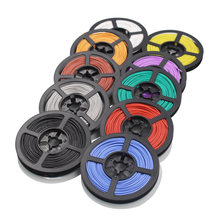 50 meters 26AWG flexible silicone wire and cable copper wire tinned copper wire stranded wire DIY10 colors