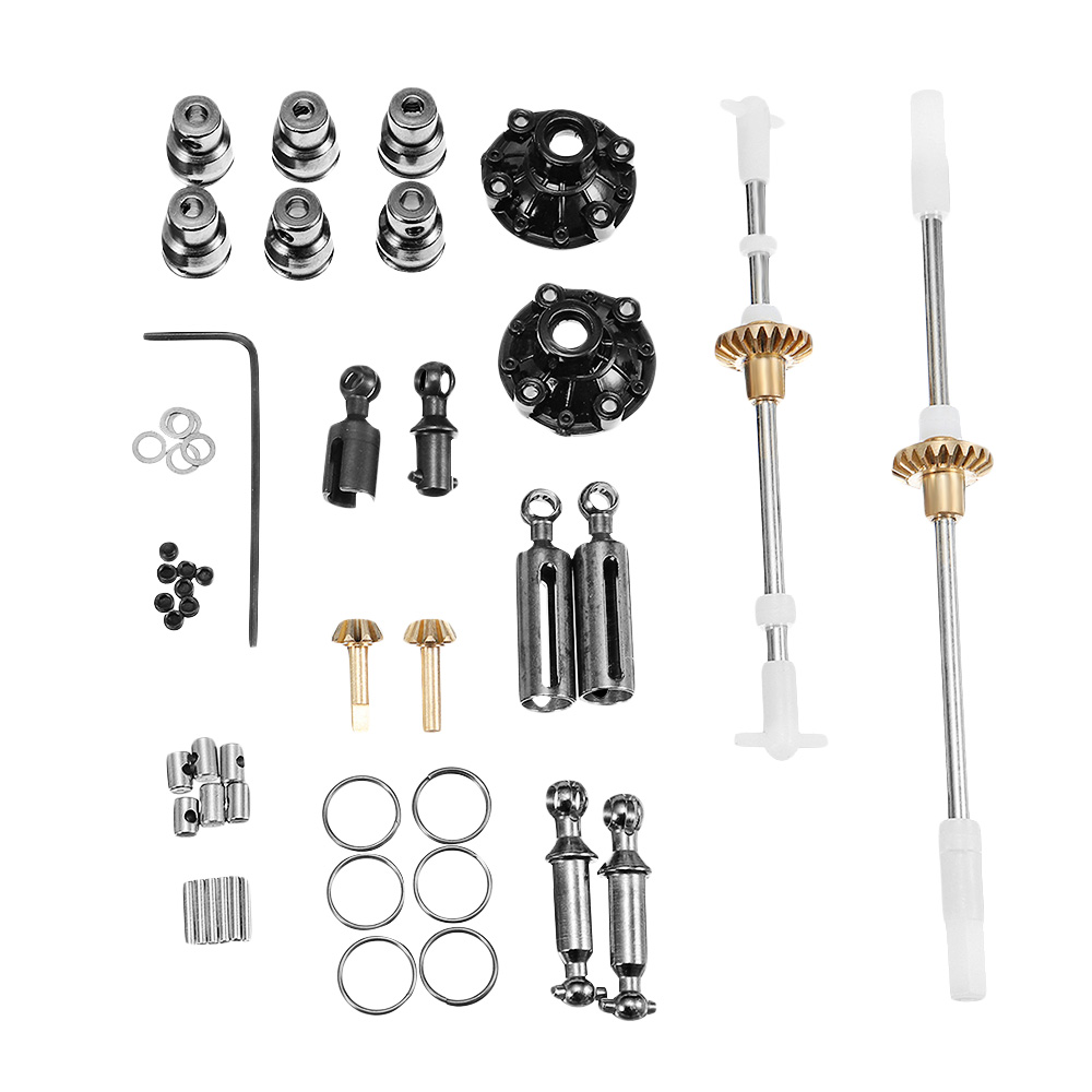 6WD Metal Gear Bridge Axle And Drive Shaft For B16 1/16 RC Car Metal Gear Bridge Axle / Drive Shaft Kit Remote Control Toy Parts