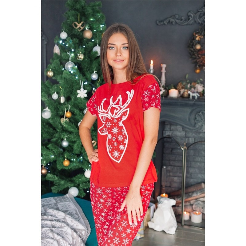 T Shirt women KAFTAN Snow by red, p-p 48-50, 100% CHL llama and pom poms snow jackets p