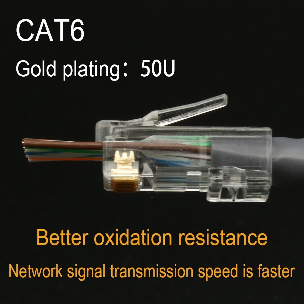 Image 4 - Xintylink EZ rj45 разъем cat6 rj 45 ethernet Кабельный разъем utp 8P8C cat 6 сетевой неэкранированный модульный легкий lan терминалы