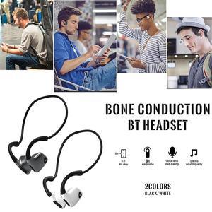 Image 2 - Bluetooth Wireless Kopfhörer Knochen Leitung Headset Mit Micphone Schweiß beweis Für Lauf Radfahren Fitness Schwarz Für S. tragen R9