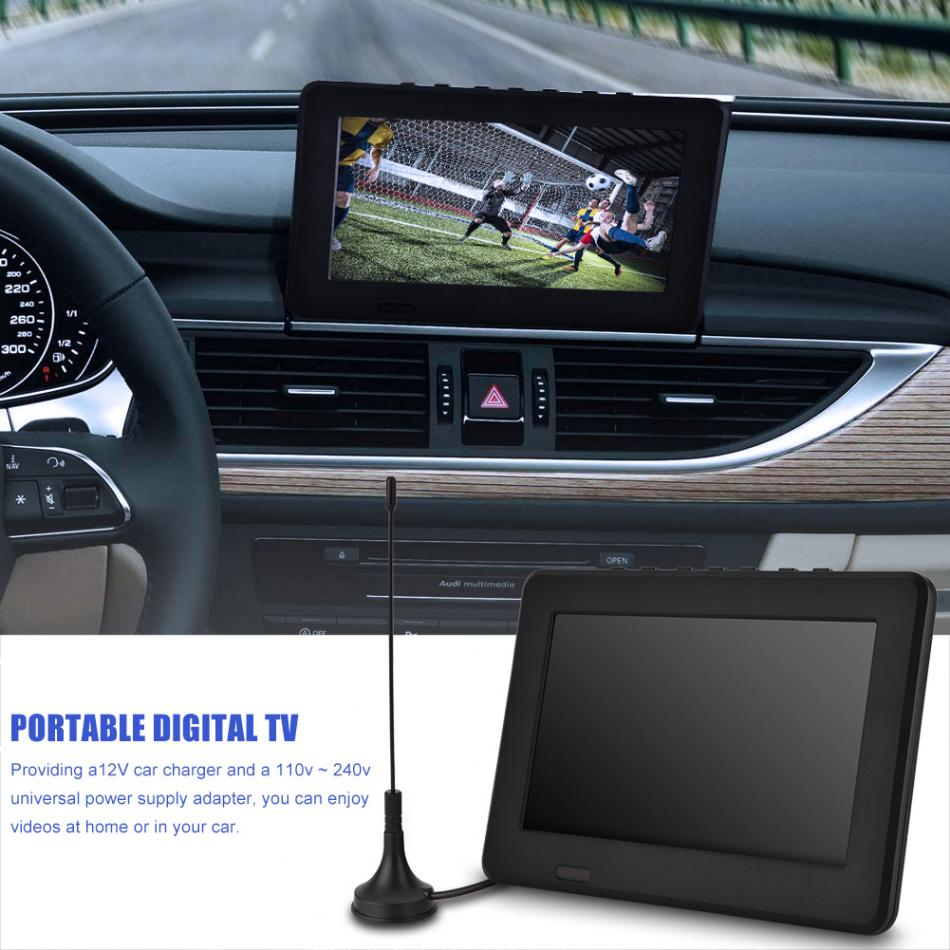 LEADSTAR ISDB-T 7 Inches 16 : 9 Rechargeable Digital Color Car TV Television Pla