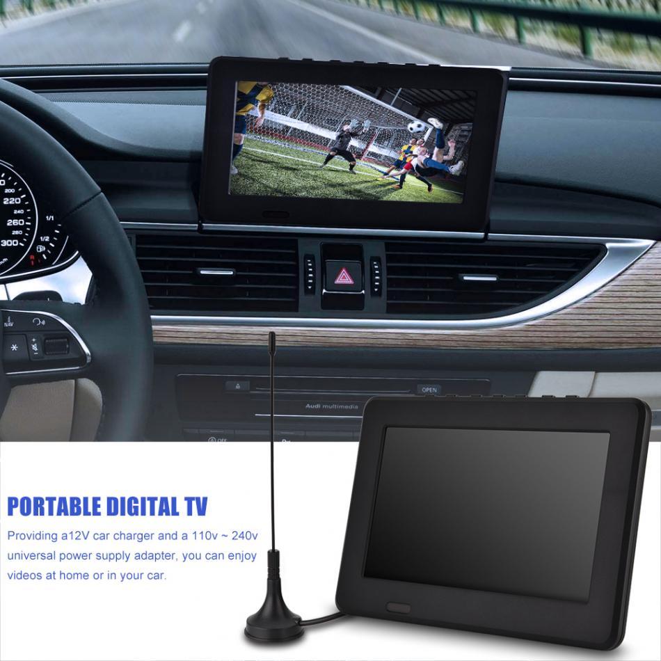 Leadstar ISDB-T 7 дюймов 16: 9 Перезаряжаемые цифровой Цвет автомобиля ТВ телевизионный проигрыватель TFT-LED Экран для ЕС plug + антенна + пульт