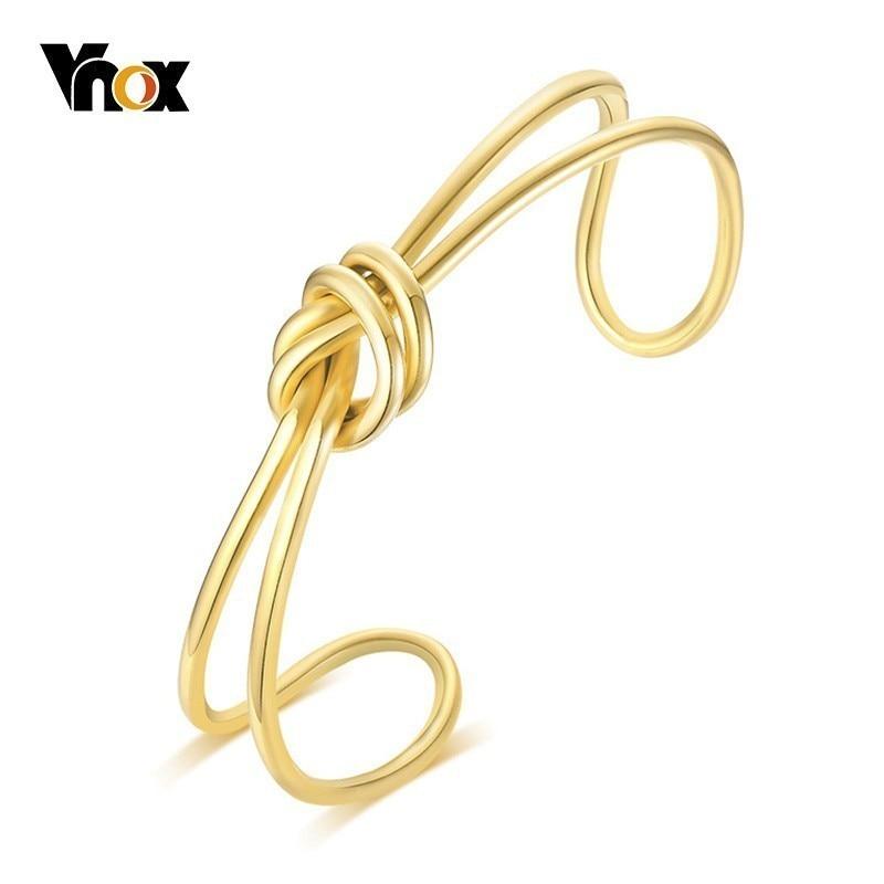 Vnox Chic Knot Bangle Cuff...