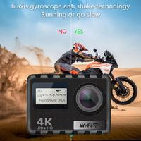 AT N490 Ultra HD 1080 P WiFi 4 K Спортивная экшн камера DVR DV Водонепроницаемая камера непрерывная фотография 2,0 дюймов LTPS сенсорный экран