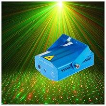 Przenośny Mini LED R & G projektor laserowy efekt oświetlenia scenicznego regulacja DJ Disco klub karaoke Party oświetlenie ślubne ue wtyczka