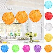 Люстра кулон шар 30 элементов Современная головоломка лампа-головоломка абажур потолочный абажур креативный DIY светодиодный светильник многоцветный бар