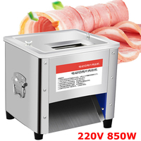 220V 850W Commercial Stainless Steel Meat Cutting Machine Tool Cutter Slicer Home Multifunctional Meat Grinder Kitchen Appliance