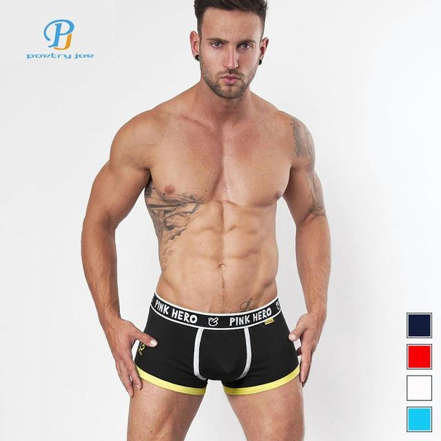 84fa9dc1f29 Pink Heroes Men Underwear Boxers Classic Cotton Print Men Boxer Underwear  Fashion Brand Sexy Underwear Men