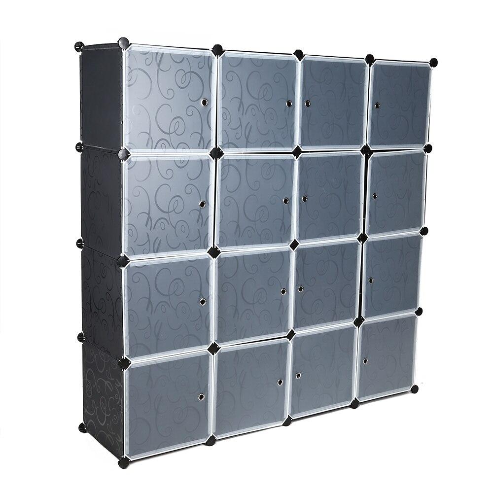 EN VENTE! 16 Cube vêtements placard modulaire armoire résine vêtements chaussures stockage Rack organisateur bricolage facile assembler armoires
