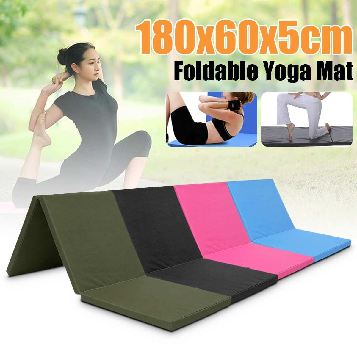 Coussin pliant gymnastique Gym tapis exercice Yoga tapis Pad décontracté Yoga couvertures pour Fitness entraînement en plein air exercice matelas