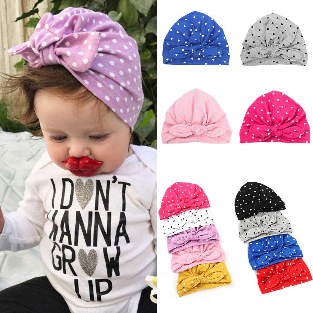 1 Pc Süße Baby Mädchen Hut Mit Bogen Candy Farbe Baby Turban Kappe Für Mädchen Elastische Beanie Säuglings Zubehör 2019