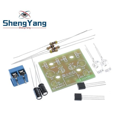 Simple LED Flash DIY Kits Circuit Electronics DIY Electronic Suite 1.2mm Parts for Arduino Flash LED Kit Electronic DIY Kit Islamabad