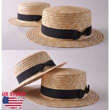 De las mujeres de la moda de verano de las niñas Boho paja sol sombrero  arco plano superior de ala ancha playa para el sol sombr. e393443c122c